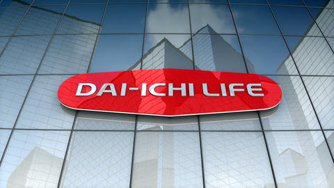 Editorial, The Dai-ichi Life Insurance Company, Ltd. logo on glass building Animation