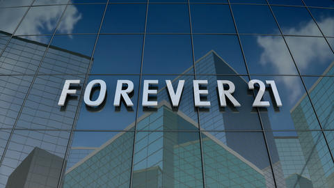 Editorial, Forever 21 logo on glass building Animation
