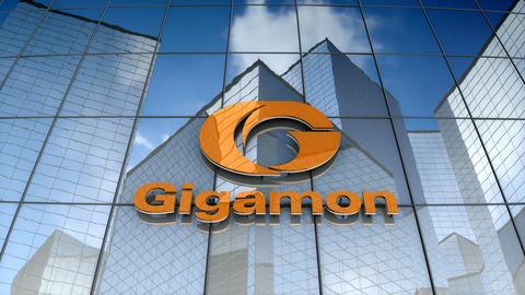 Editorial, Gigamon logo on glass building Animation