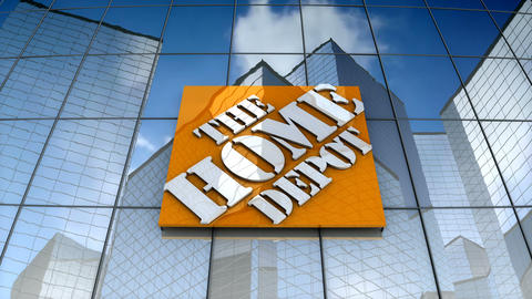 Editorial, The Home Depot, Inc. logo on glass building Animation