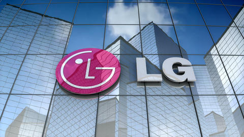 Editorial, LG Electronics Inc. logo on glass building Animation