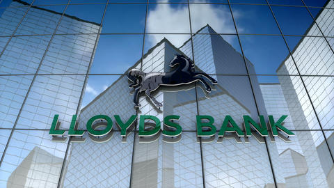 Editorial, Lloyds Bank plc logo on glass building Animation