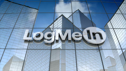 Editorial, LogMeIn Inc. logo on glass building Animation
