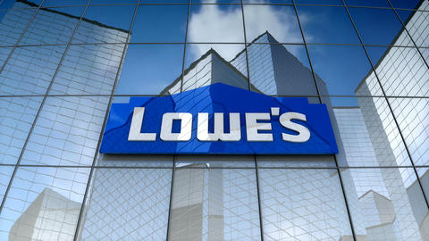 Editorial, Lowe's Companies, Inc. logo on glass building Animation