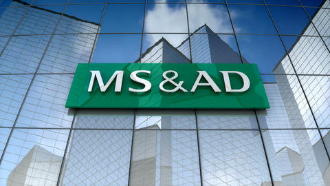 Editorial, MS&AD Insurance Group Holdings logo on glass building Animation