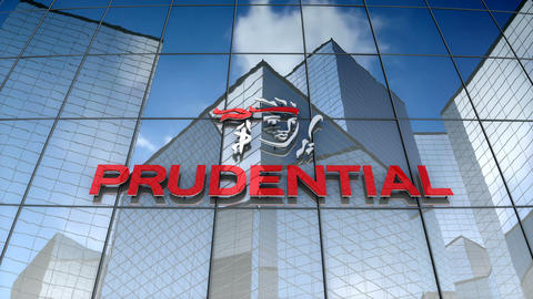 Editorial, Prudential Financial, Inc. logo on glass building Animation