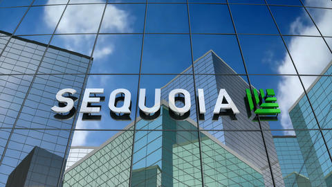 Editorial, Sequoia Capital logo on glass building Animation