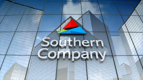 Editorial, Southern Company logo on glass building Animation