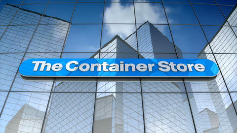 Editorial, The Container Store Group, Inc. logo on glass building Animation