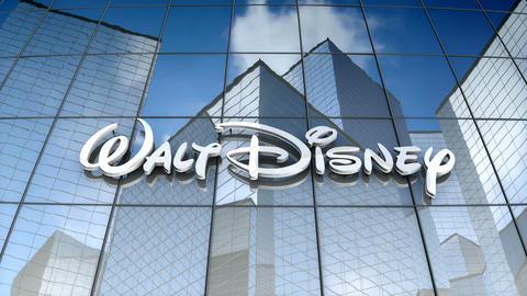 Editorial, The Walt Disney Company logo on glass building CG動画