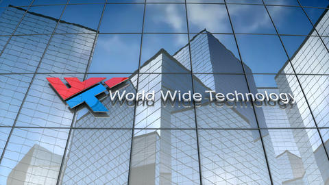 Editorial, World Wide Technology logo on glass building Animation