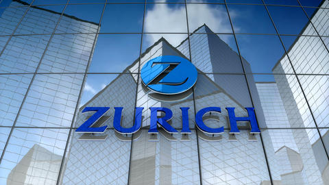 Editorial, Zurich Insurance Group Ltd. logo on glass building Animation