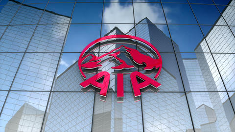 Editorial, AIA Group Limited logo on glass building Animation