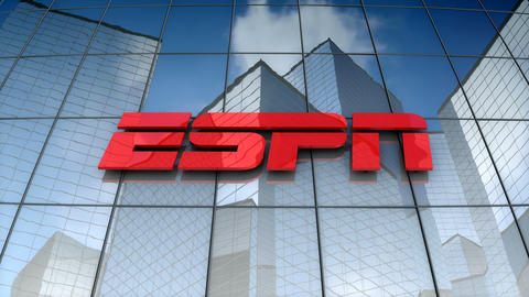 Editorial, ESPN Inc. logo on glass building Animation