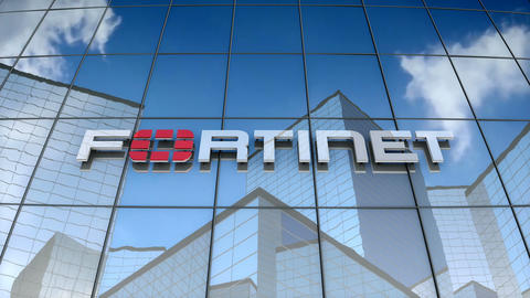 Editorial, Fortinet logo on glass building Animation