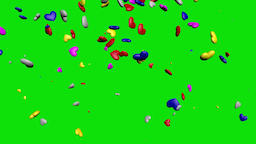 Multi Color Falling Hearts Video Background-Blue Footage