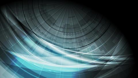 Dark blue futuristic technology wavy video animation Animation
