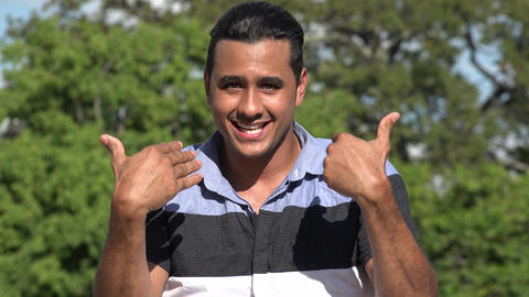 C0268 welcoming adult hispanic man waving Live Action