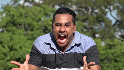 C0270 crazy stressed adult hispanic man Live Action