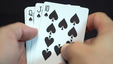 Royal Flush Spades Footage