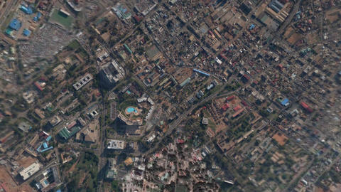 Earth Zoom In Zoom Out Accra Ghana Footage