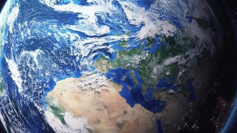 Earth Zoom In Zoom Out Andorra la Vella Andorra Footage
