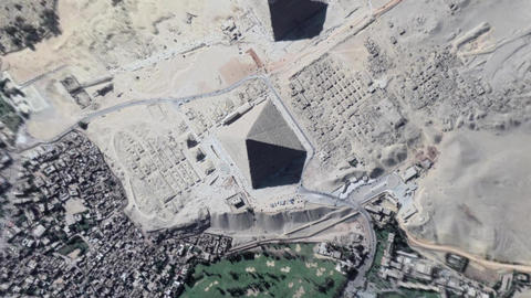 Earth Zoom In Zoom Out Giza Cairo Egypt Footage