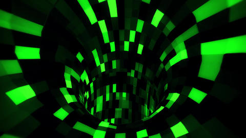 3D Green Sci-Fi Arificial Intelligence Tunnel - VJ Loop Motion Background GIF