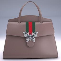 83cc22eaeb8 GucciTotem medium top Gucci handle bag 3D Models. Lifestyle・Hobby
