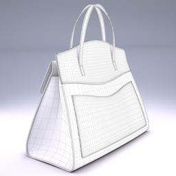 GucciTotem medium top Gucci handle bag 3D Model