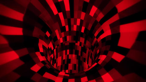 3D Red Sci-Fi Arificial Intelligence Tunnel - VJ Loop Motion Background V2 Animation
