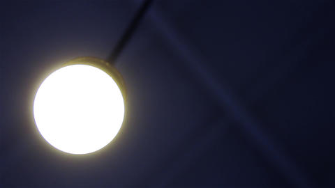 Ceiling Lamp Is Turned On And Then Turned Off. Close-Up Footage