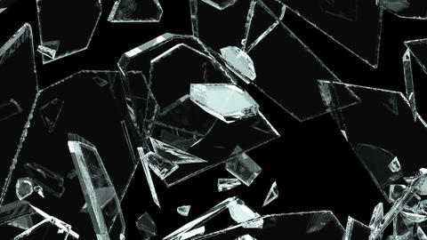Glass crack and shatter with slow motion. Alpha, 3d render, 3d animation 애니메이션