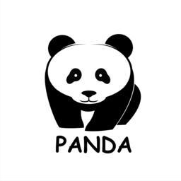 Panda bear silhouette ベクター