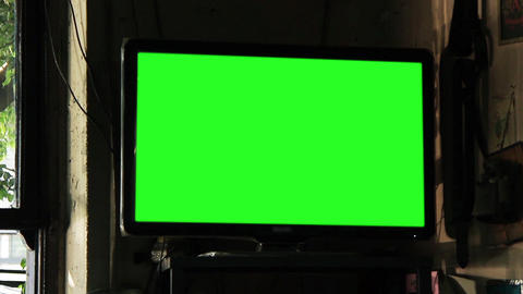 Green Screen Television In A Bar Live Action