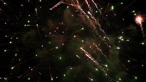 Fireworks explosion celebration Footage