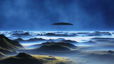 Spaceship on Alien Planet Animation