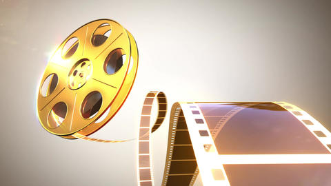 Cinema Projector Gold CG動画素材