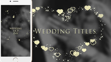 Wedding Titles 1080*1920 Plantilla de After Effects