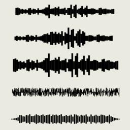 Vector sound waves set. Audio equalizer technology, pulse musical. Vector Vector