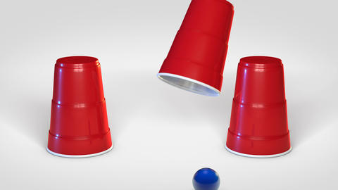 Shell Game with cups Animation