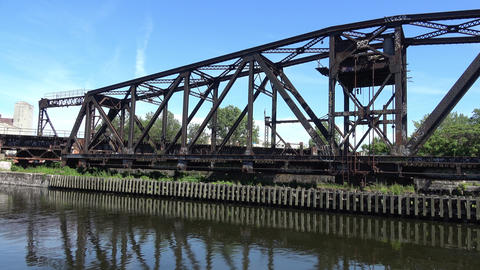 Old abandon bridge Footage