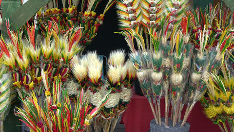 Traditional lithuanian Easter decorative palm bouquets ビデオ