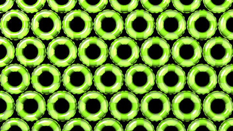 Green Swim Ring on Black Background CG動画