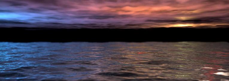 Ocean sea horizon calm sunset Footage