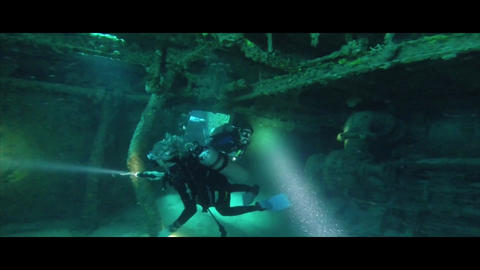 Wreck diving divers persons sports Footage