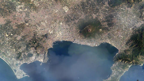 Naples (Italy) From Space. Elements Of This Image Furnished By Nasa 영상물