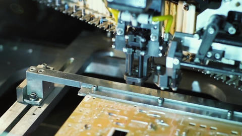 Machine Manufacturing Electronic Circuit Board, Live Action