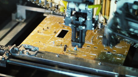 Machine Manufacturing Electronic Circuit Board Footage