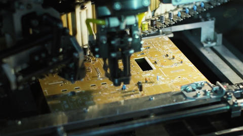 Machine Manufacturing Electronic Circuit Board Live Action